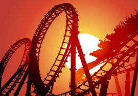 Rollercoaster at Sunset Graphic