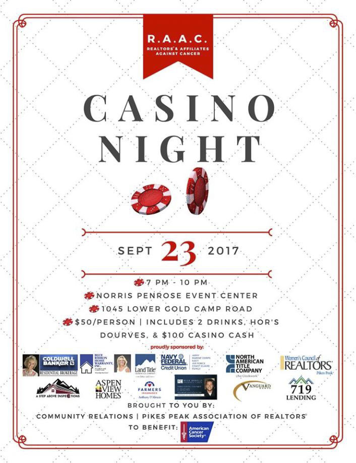 Flyer For Casino Night